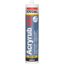 Soudal Acryrub CF2 Mastic Acrylique Blanc